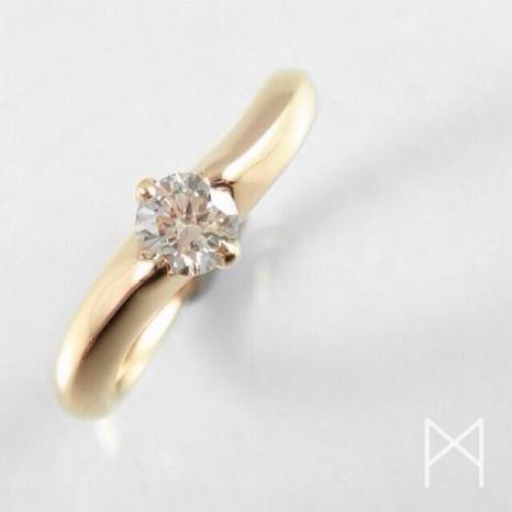 ピンクゴールドの指輪と雑談