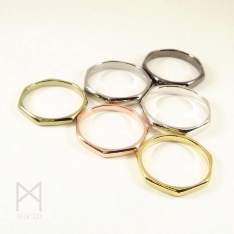 幸運を呼ぶ形~七角形のマリッジリング(結婚指輪)