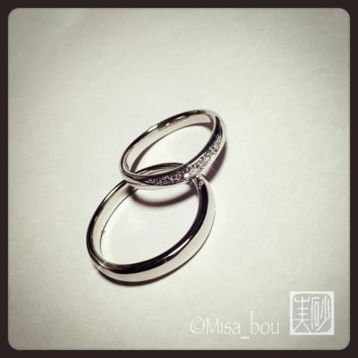 プラチナたっぷりの結婚指輪マリッジリング