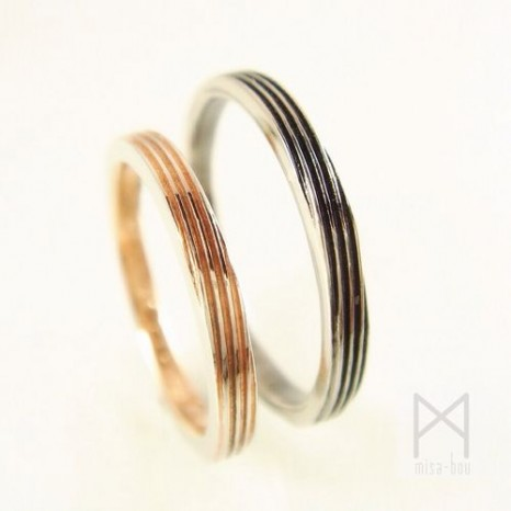木目金じゃない木目調のマリッジリング(結婚指輪)-完成編