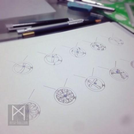 リング状デザインネックレスーデザイン編