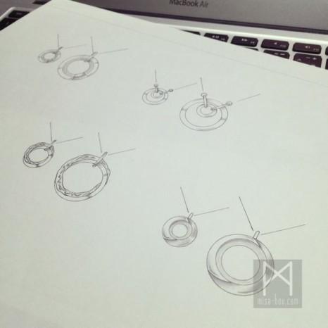 「ふたつでひとつ」ペアネックレス-デザイン編