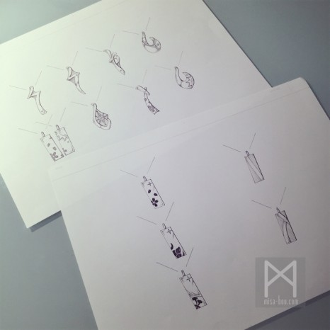 リバーシブル仕様のシンプルプレートネックレス|デザイン編