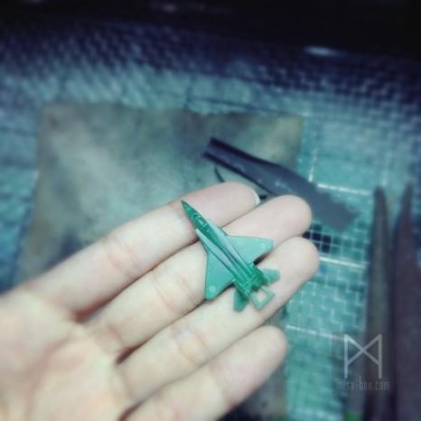戦闘機モチーフのペアアクセサリー|デザイン原型編