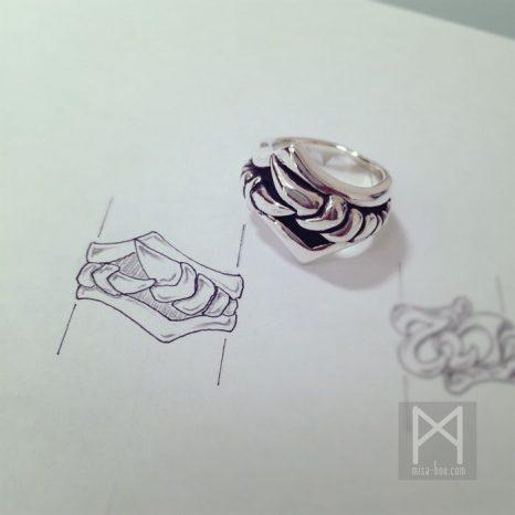 シルバー(骨)ボーンリング|プレゼント用オーダー