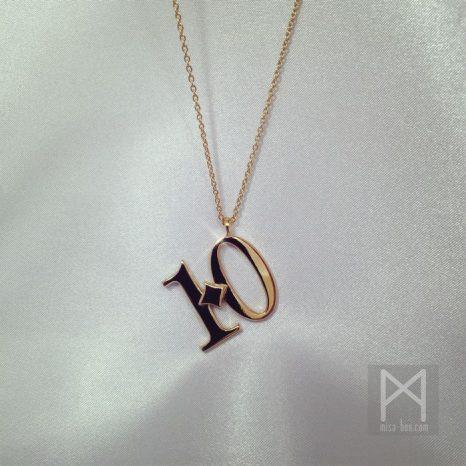 シルバーナンバーネックレス「10」Ver.|ゴールドカラー