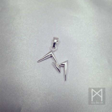 会社ロゴのシルバーキーチャームオーダーメイド